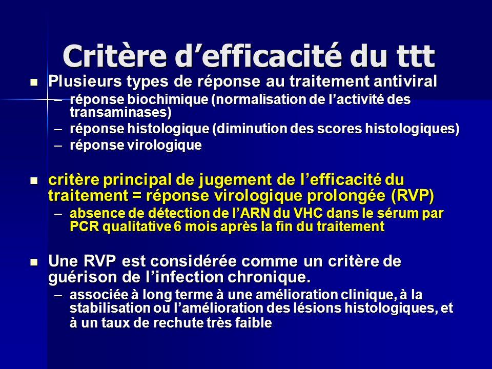Critère d'efficacité du ttt