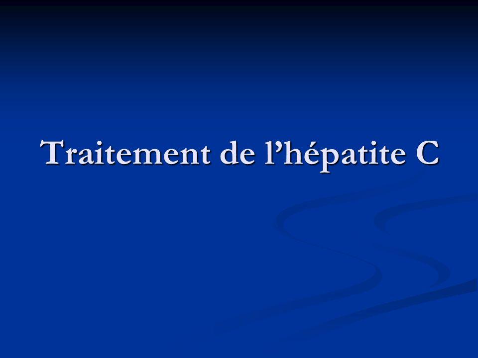 Traitement de l'hépatite C