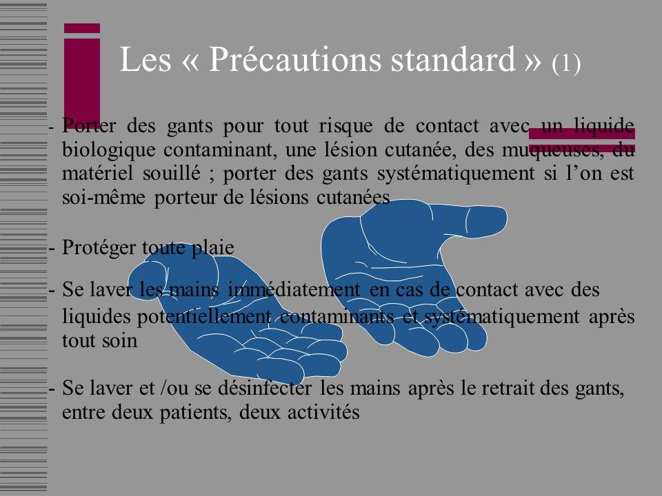 Les « Précautions standard » (1)