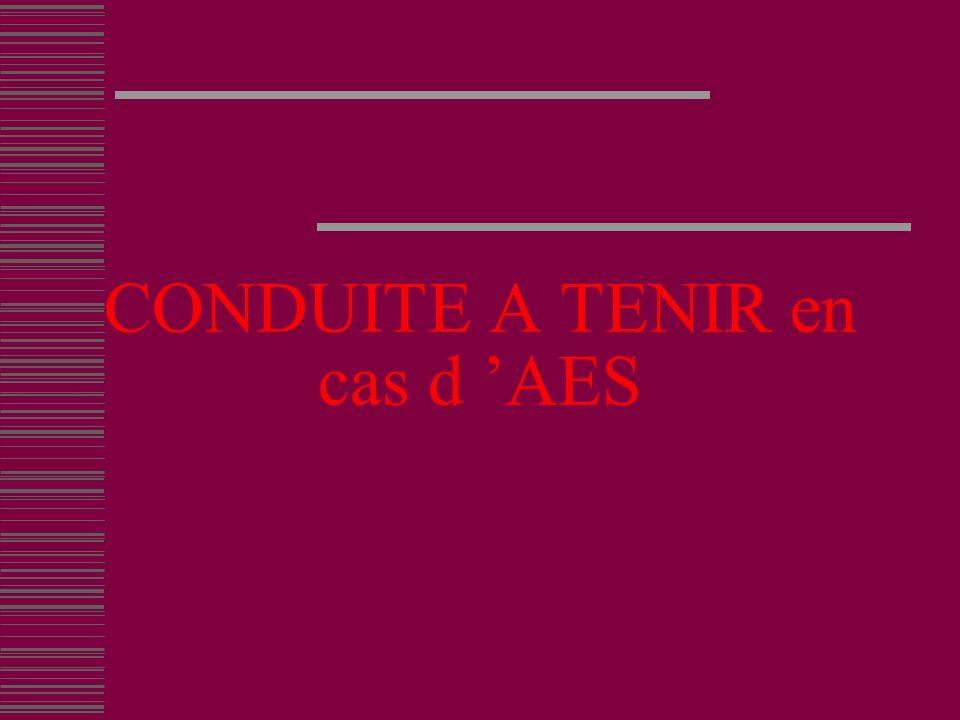 CONDUITE A TENIR en cas d 'AES