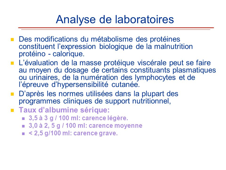 Analyse de laboratoires