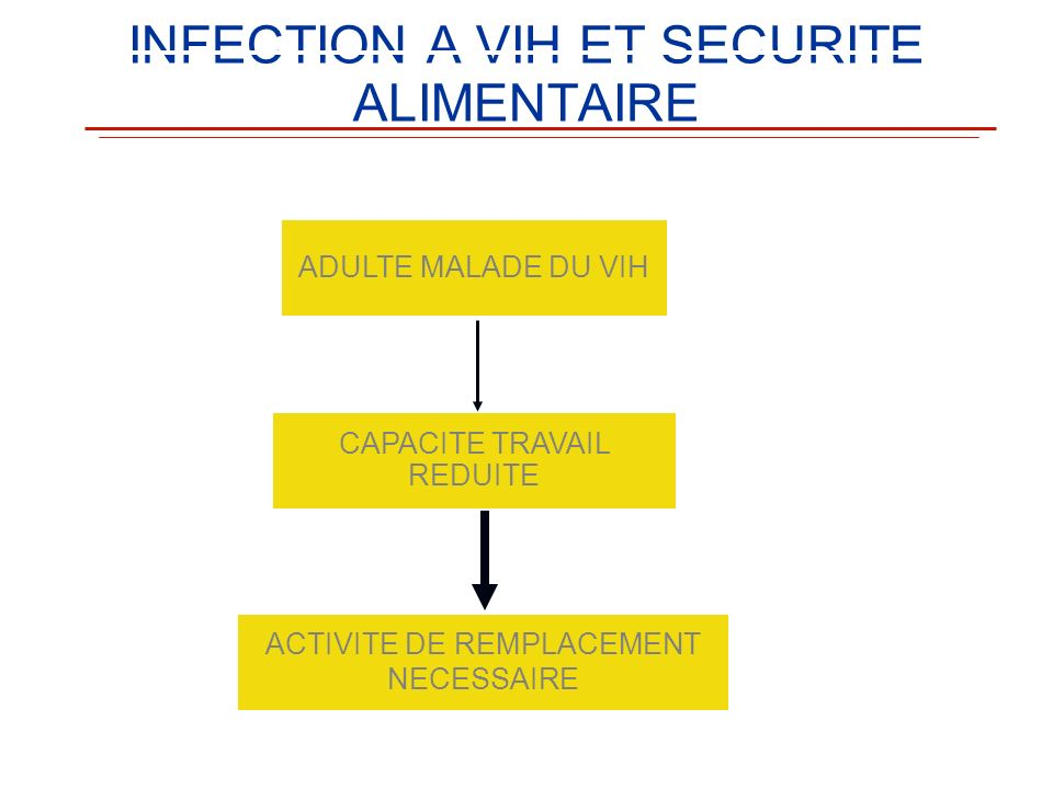 INFECTION A VIH ET SECURITE ALIMENTAIRE