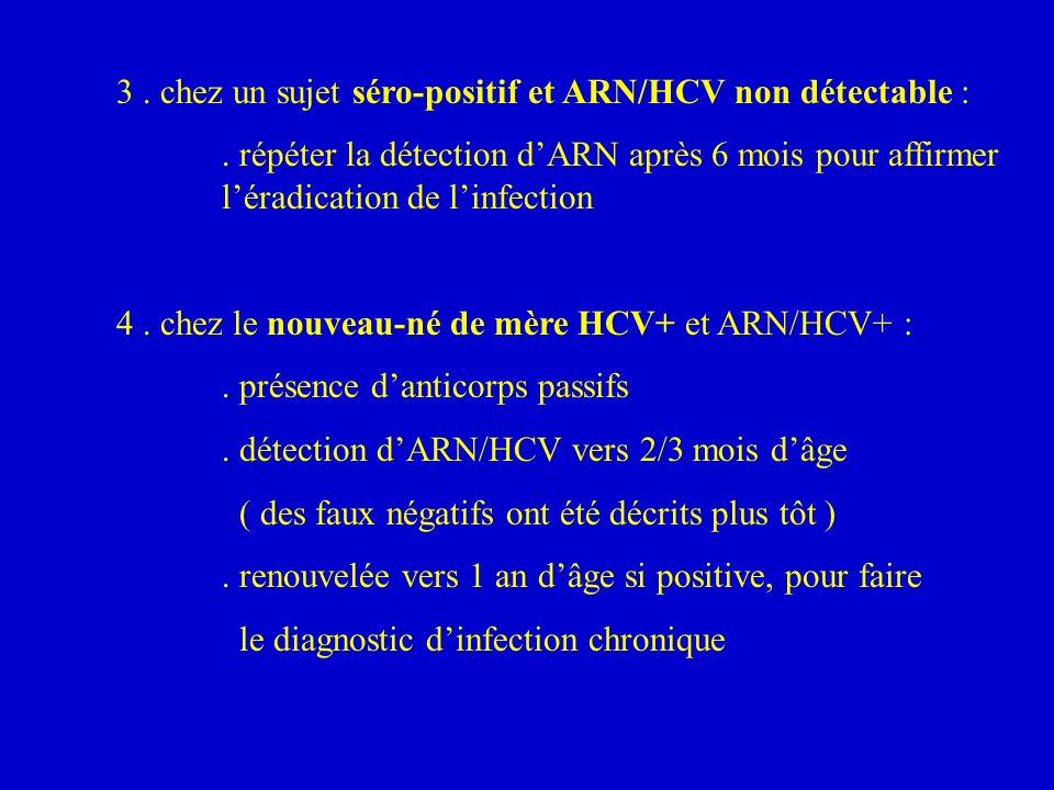 3 . chez un sujet séro-positif et ARN/HCV non détectable :