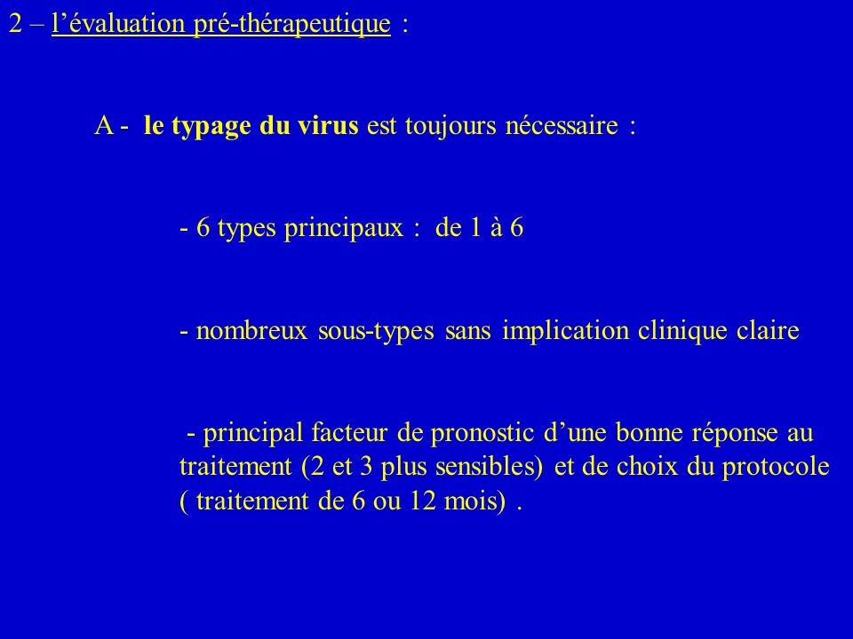 2 – l'évaluation pré-thérapeutique :