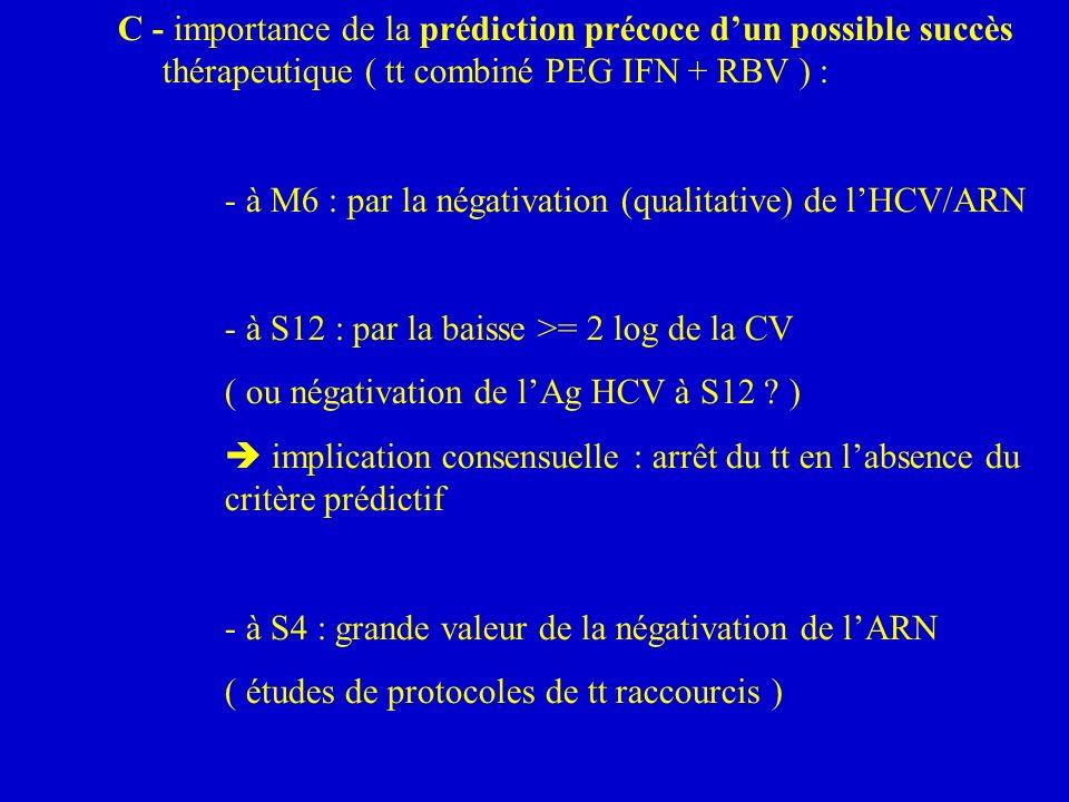 C - importance de la prédiction précoce d'un possible succès