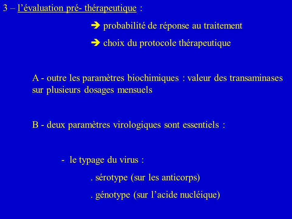 3 – l'évaluation pré- thérapeutique :