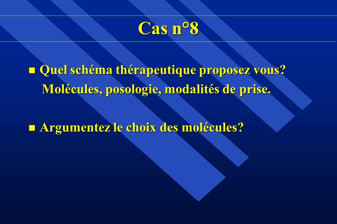 Cas n°8 Quel schéma thérapeutique proposez vous