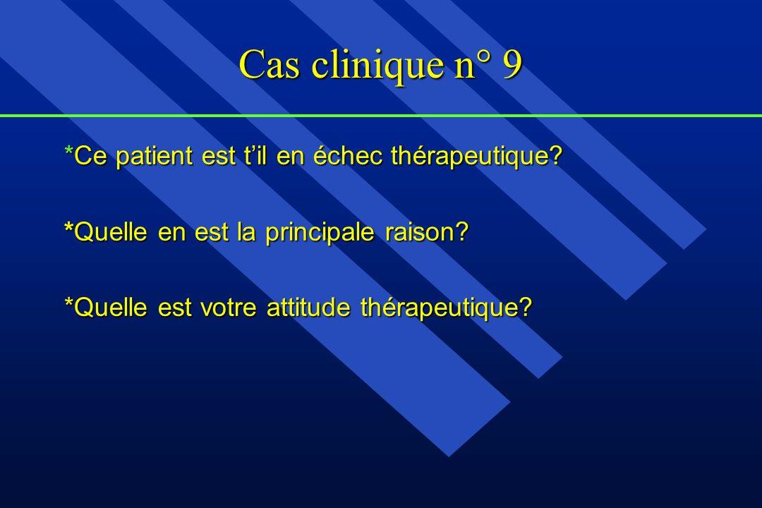 Cas clinique n° 9 *Ce patient est t'il en échec thérapeutique