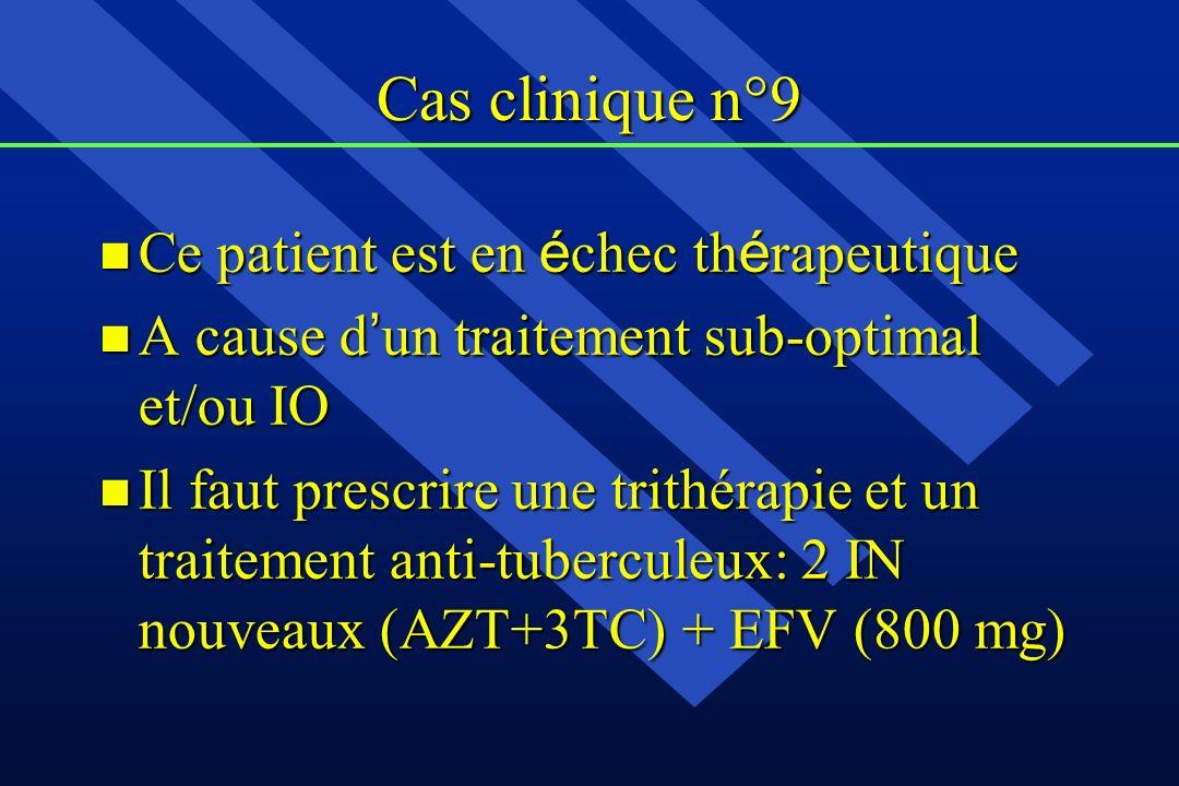 Cas clinique n°9 Ce patient est en échec thérapeutique