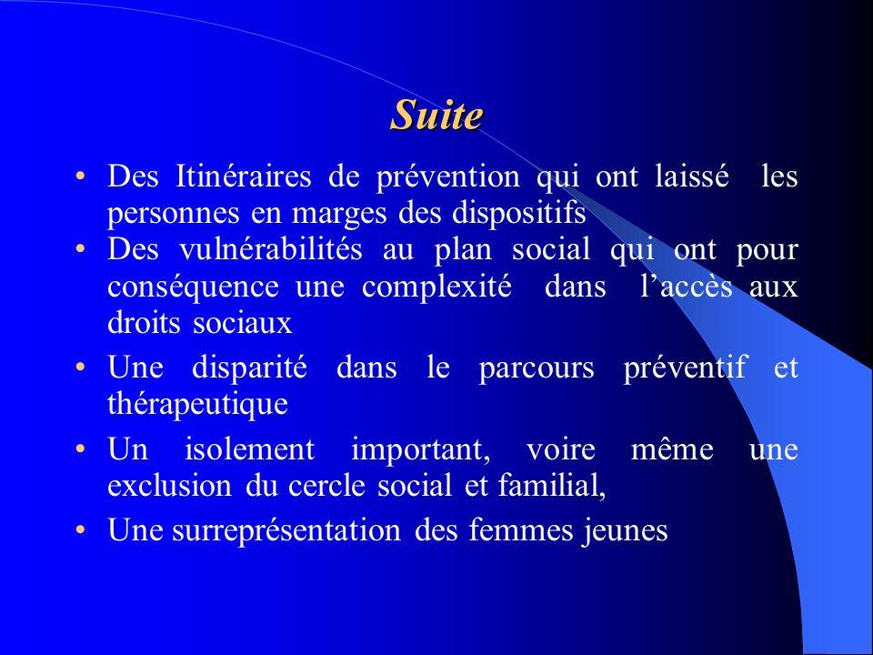 Suite Des Itinéraires de prévention qui ont laissé les personnes en marges des dispositifs.