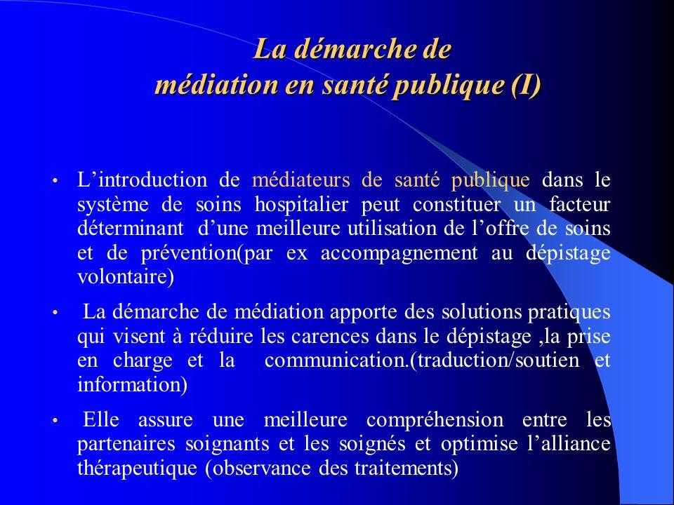 La démarche de médiation en santé publique (I)
