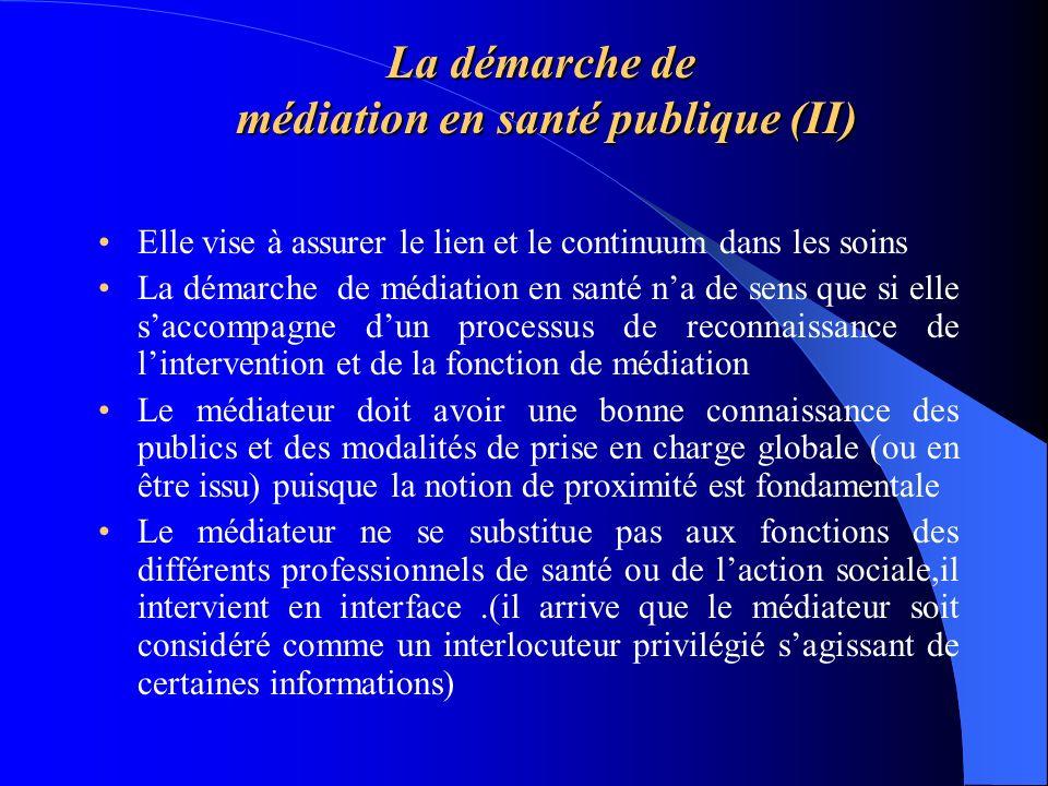 La démarche de médiation en santé publique (II)