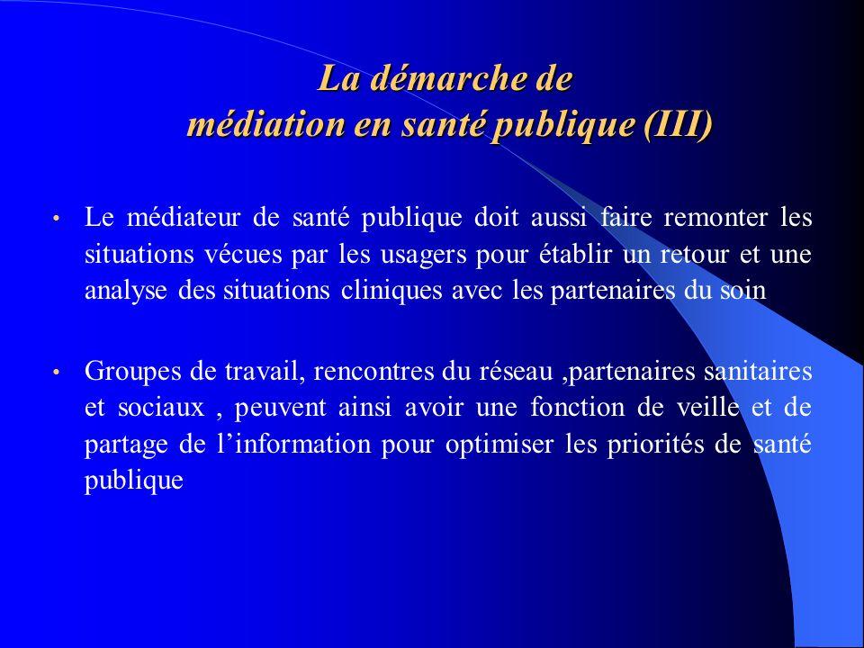 La démarche de médiation en santé publique (III)