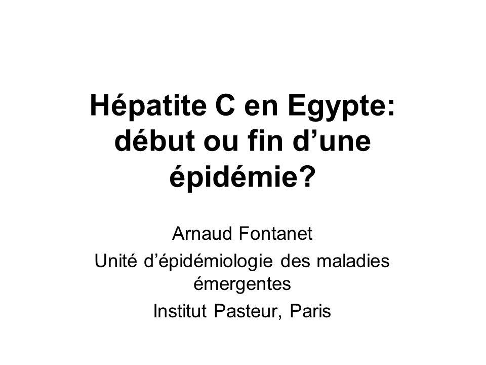 Hépatite C en Egypte: début ou fin d'une épidémie