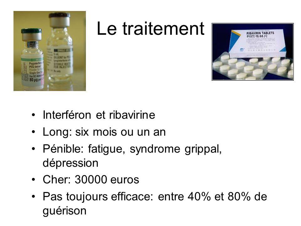 Le traitement Interféron et ribavirine Long: six mois ou un an