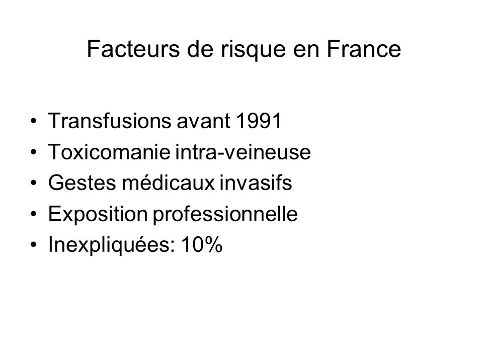 Facteurs de risque en France