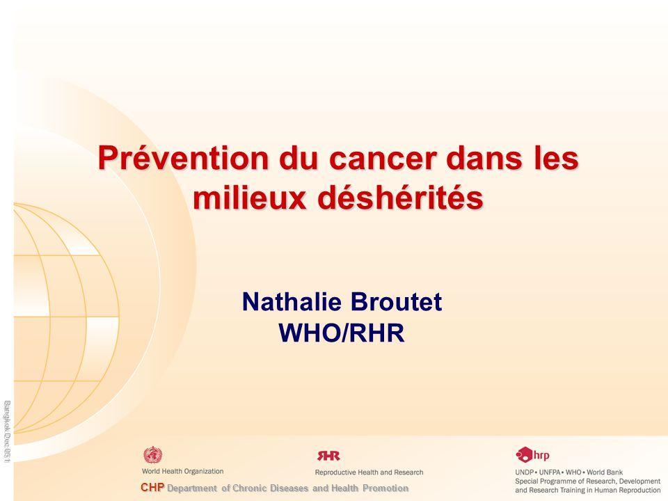Prévention du cancer dans les milieux déshérités
