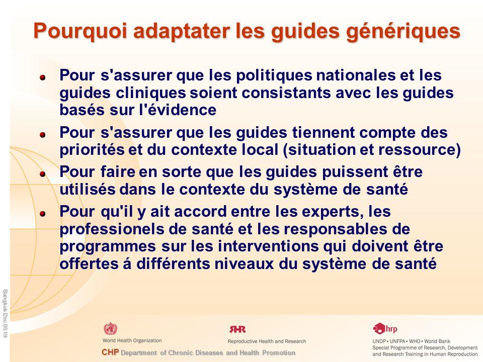 Pourquoi adaptater les guides génériques