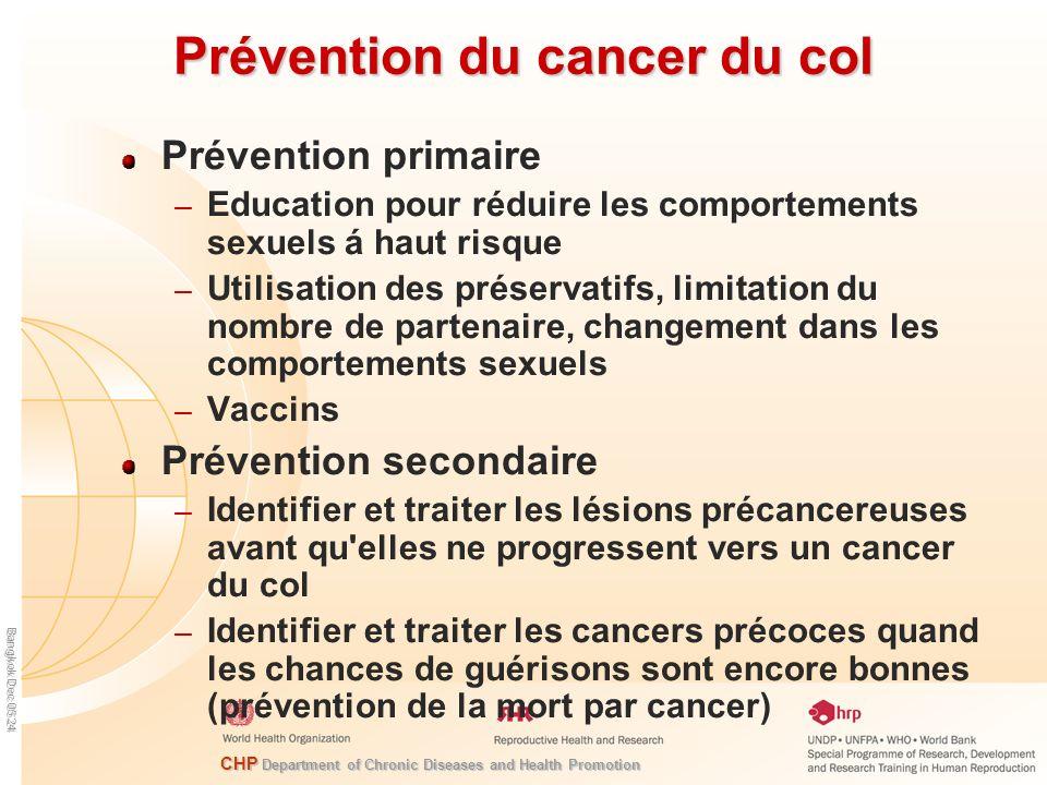 Prévention du cancer du col