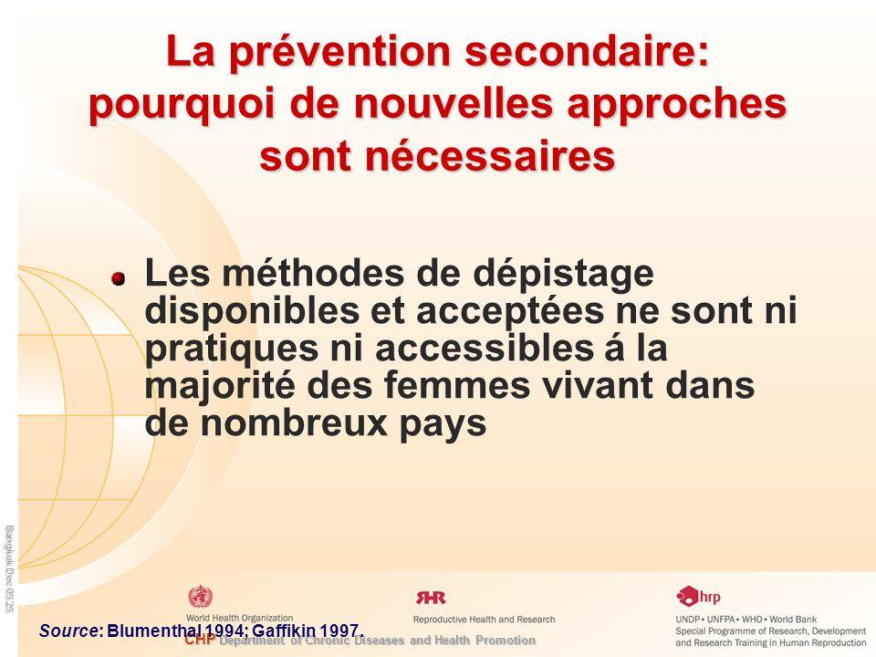 La prévention secondaire: pourquoi de nouvelles approches sont nécessaires