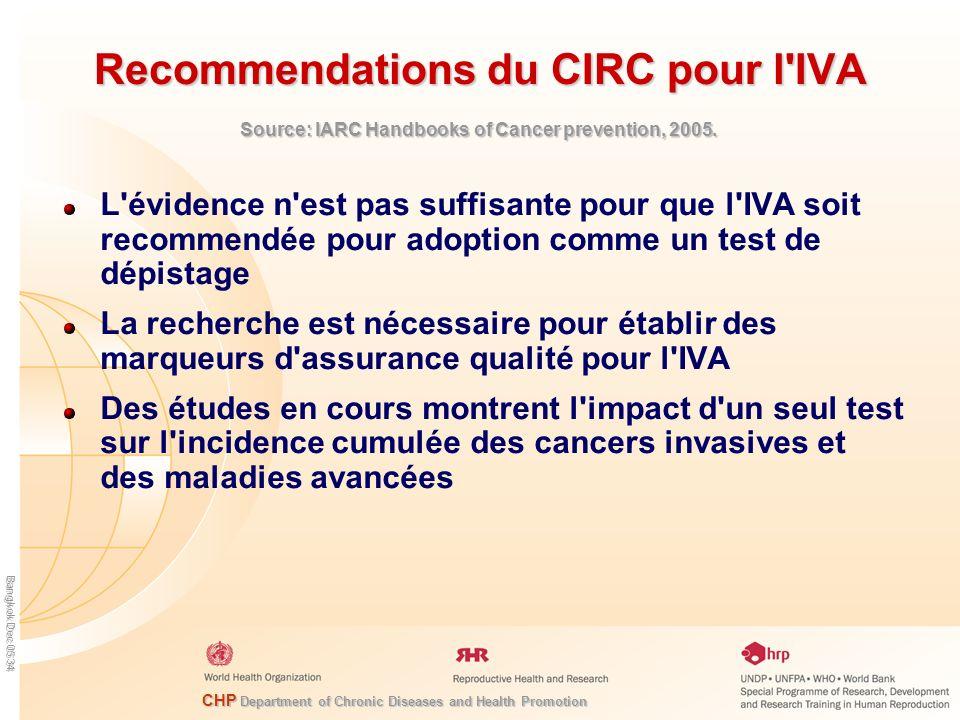 Recommendations du CIRC pour l IVA
