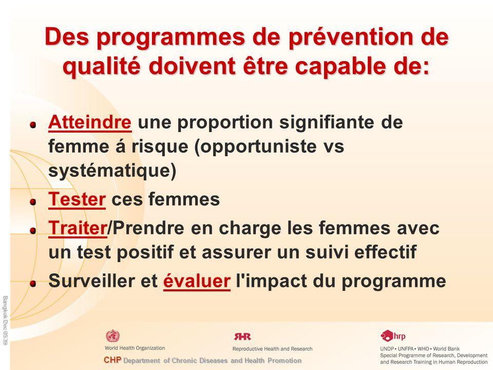 Des programmes de prévention de qualité doivent être capable de: