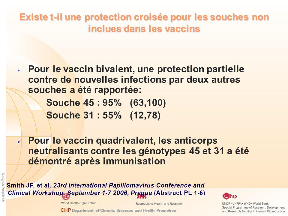 Existe t-il une protection croisée pour les souches non inclues dans les vaccins