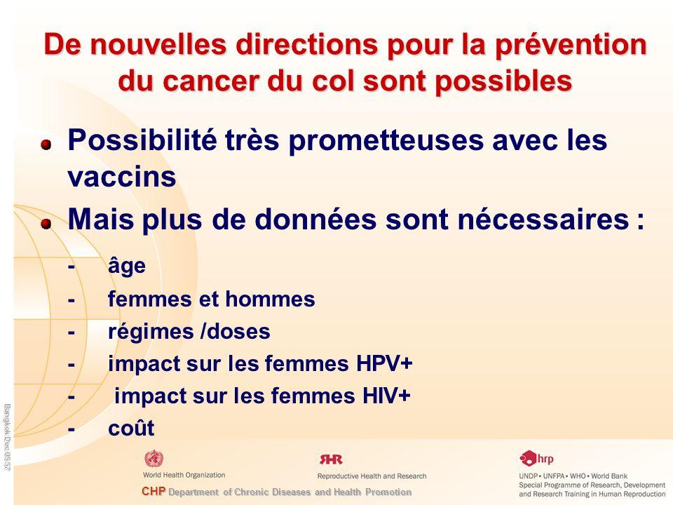 Possibilité très prometteuses avec les vaccins