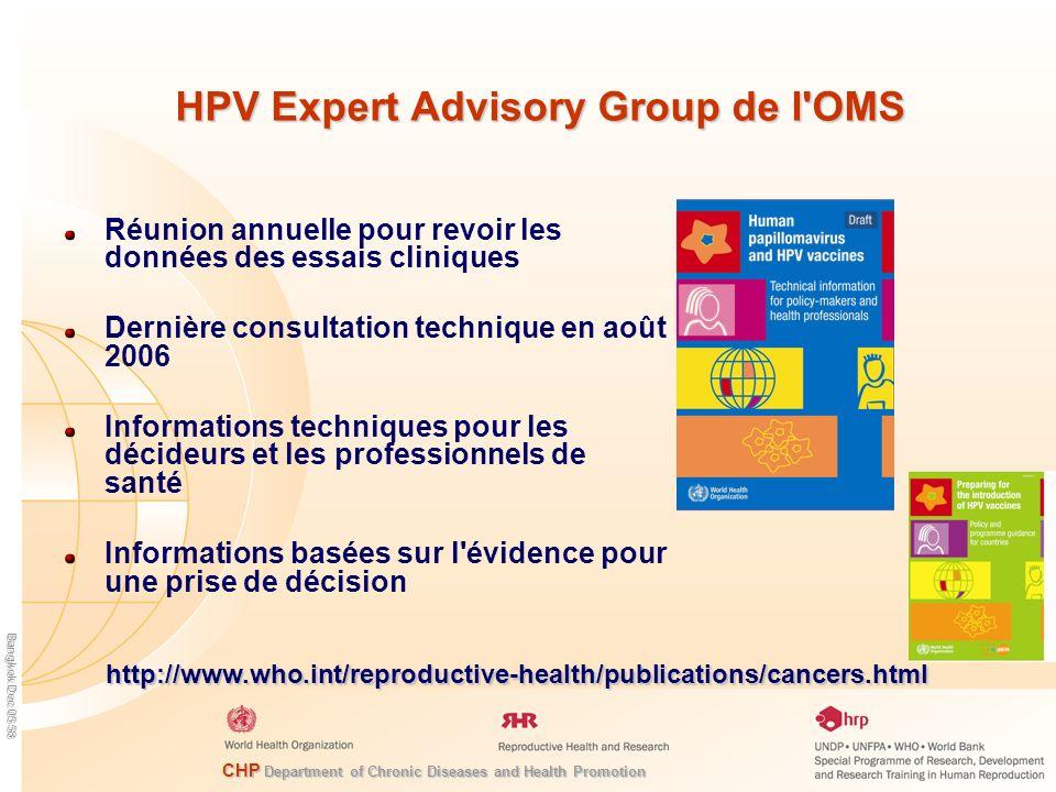 HPV Expert Advisory Group de l OMS