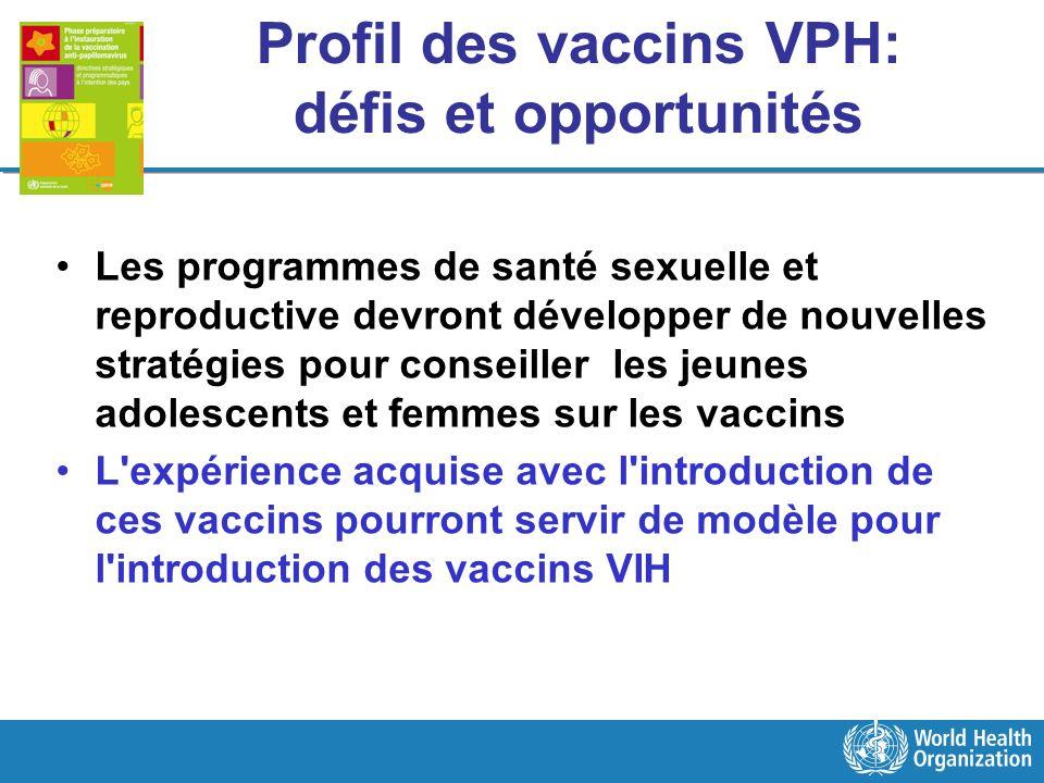 Profil des vaccins VPH: défis et opportunités