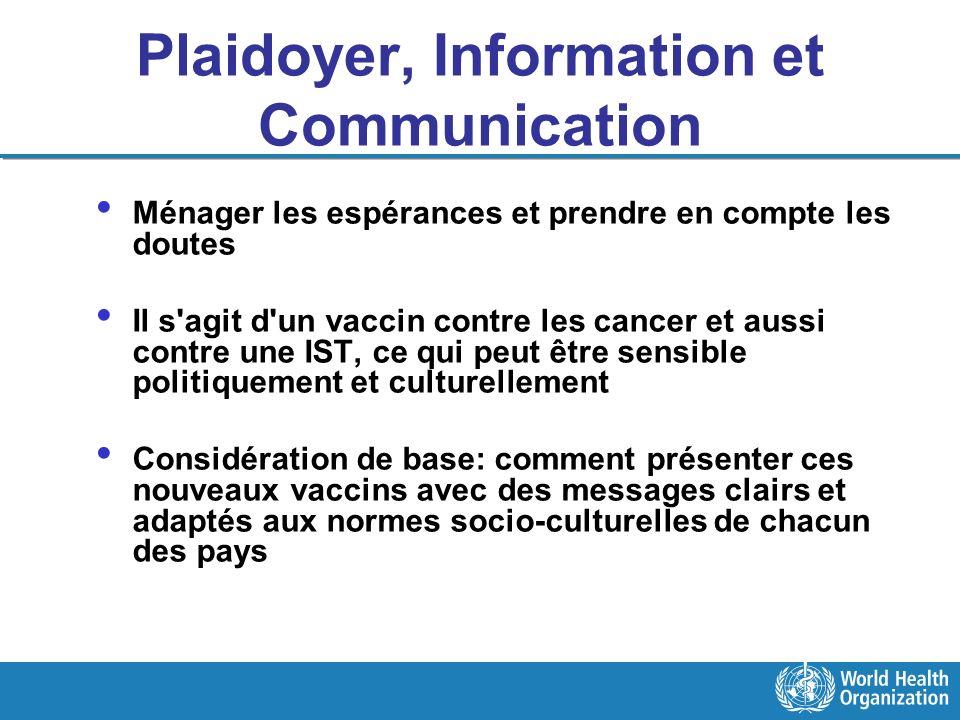 Plaidoyer, Information et Communication