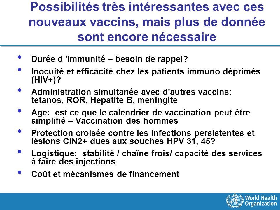 Possibilités très intéressantes avec ces nouveaux vaccins, mais plus de donnée sont encore nécessaire