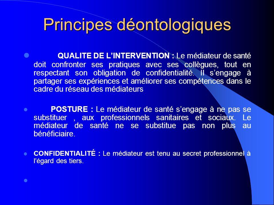 Principes déontologiques
