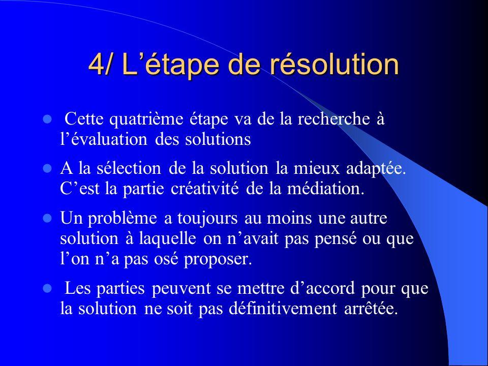 4/ L'étape de résolution