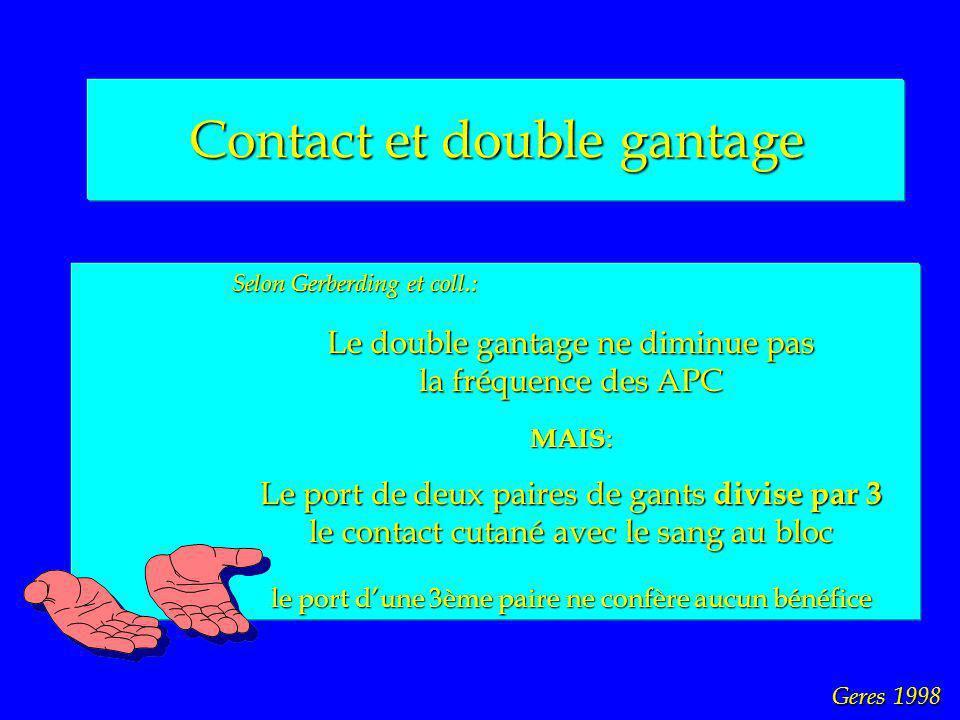 Contact et double gantage