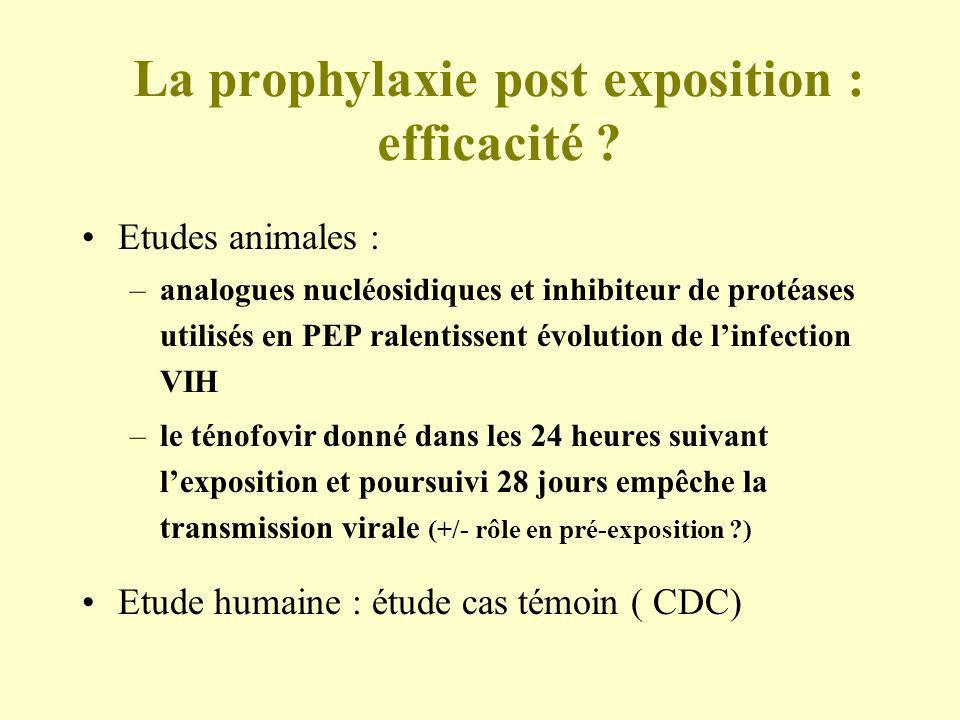 La prophylaxie post exposition : efficacité