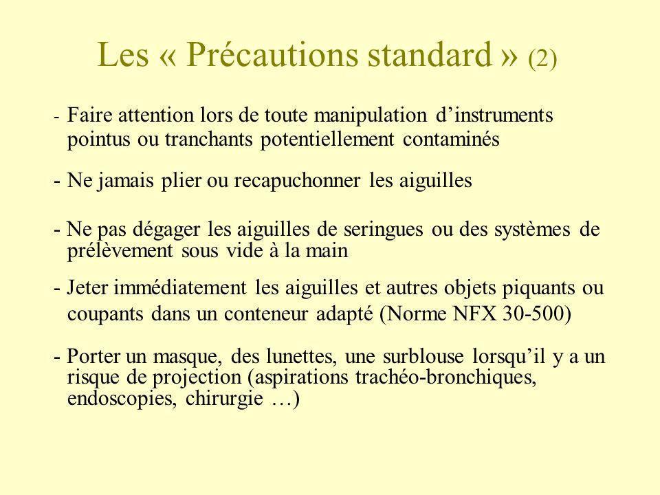 Les « Précautions standard » (2)