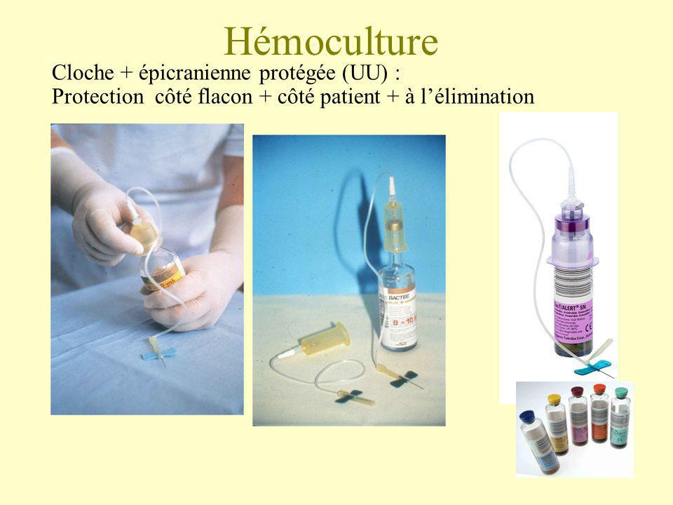 Hémoculture Cloche + épicranienne protégée (UU) :