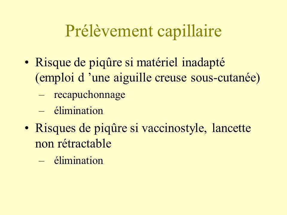 Prélèvement capillaire