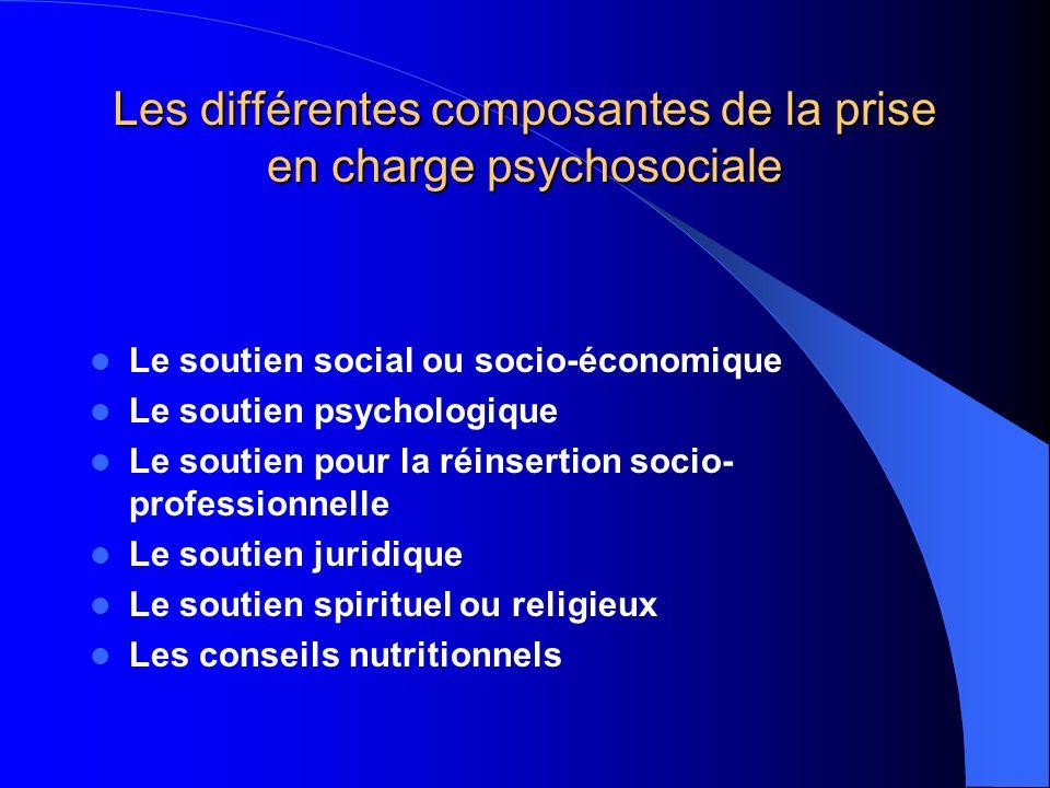 Les différentes composantes de la prise en charge psychosociale
