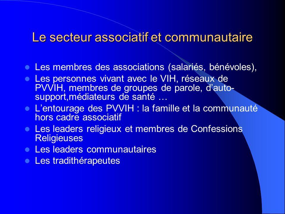 Le secteur associatif et communautaire
