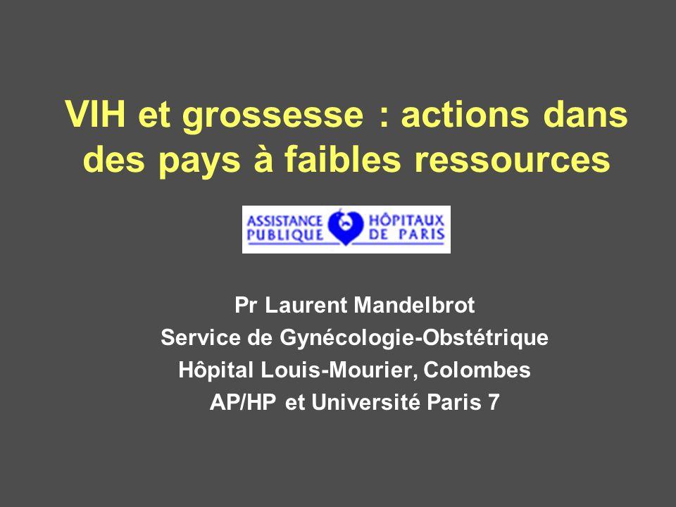 VIH et grossesse : actions dans des pays à faibles ressources