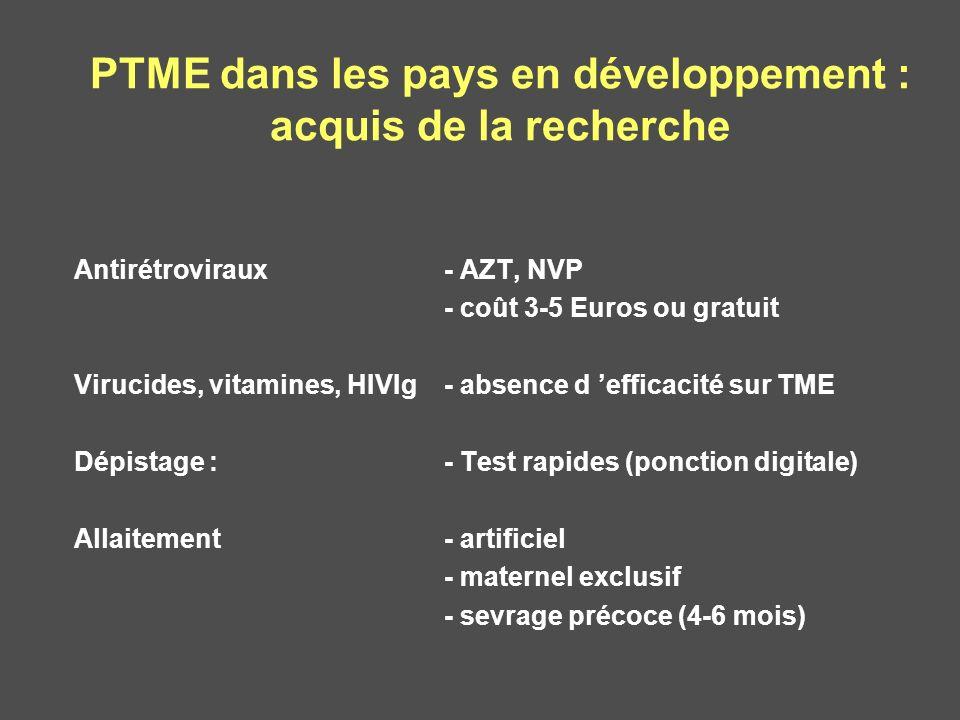 PTME dans les pays en développement : acquis de la recherche