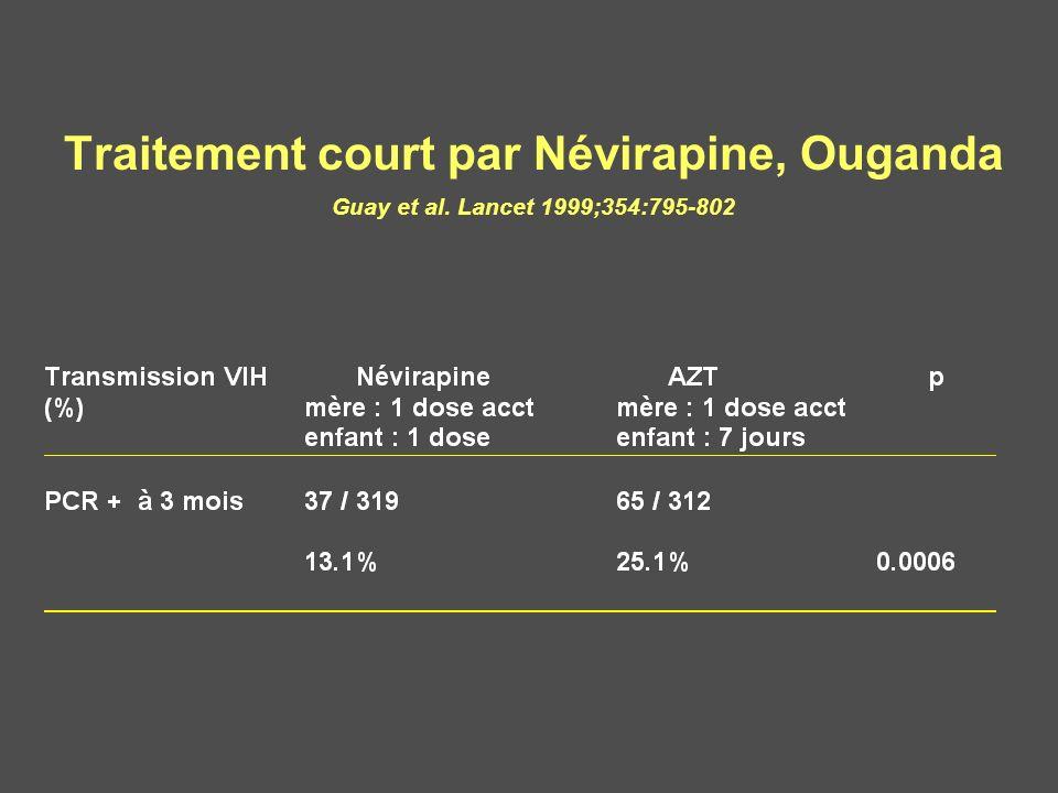Traitement court par Névirapine, Ouganda Guay et al