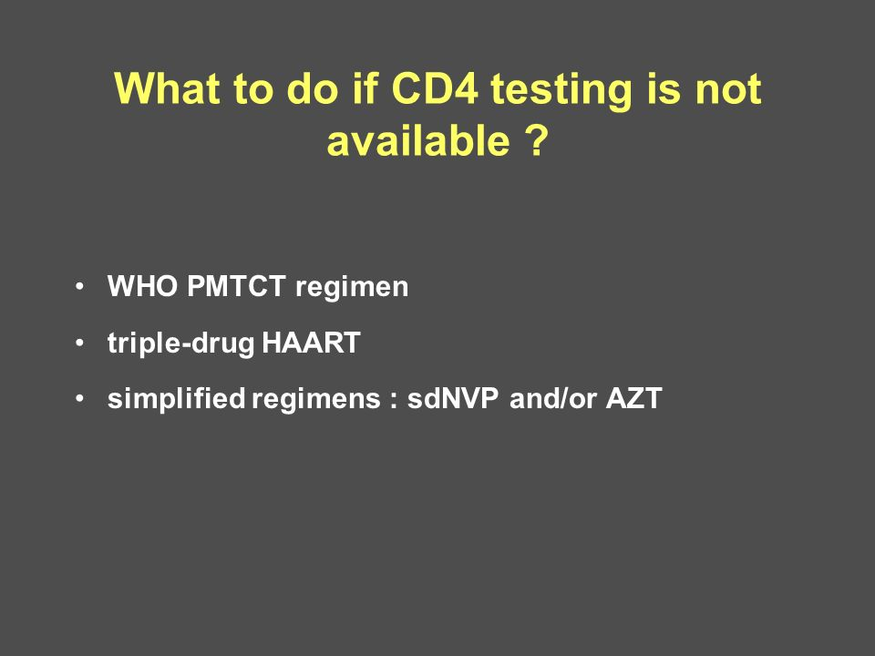 What to do if CD4 testing is not available