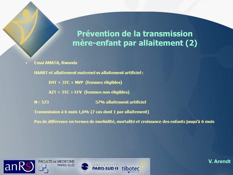 Prévention de la transmission mère-enfant par allaitement (2)