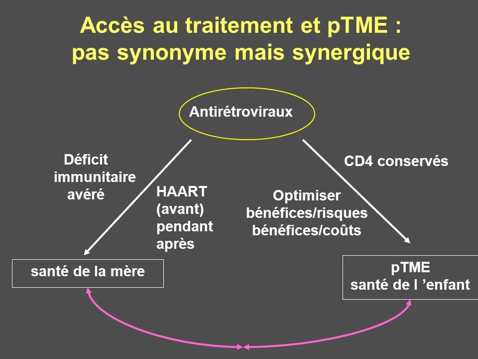 Accès au traitement et pTME : pas synonyme mais synergique