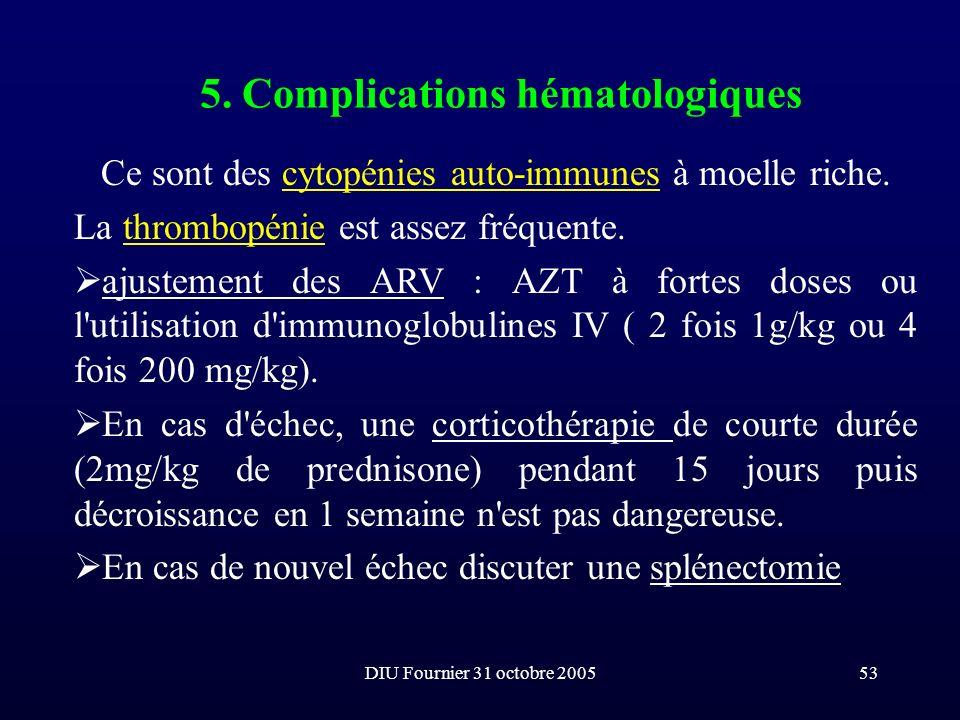 5. Complications hématologiques