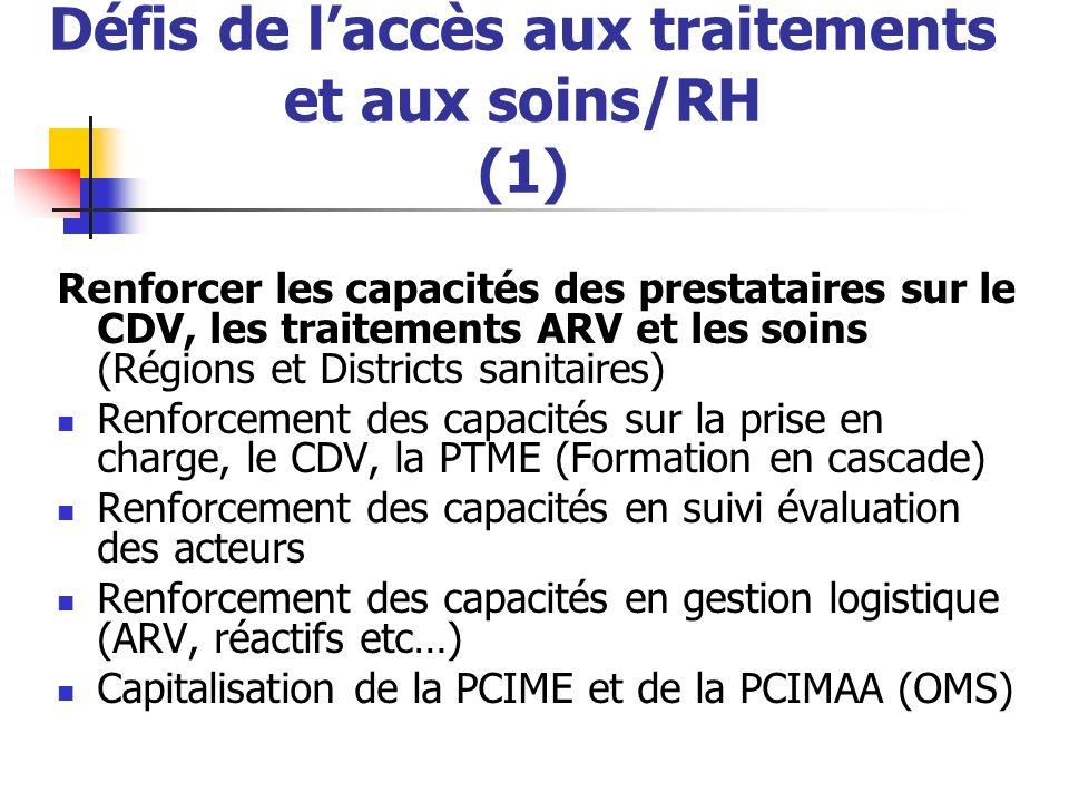 Défis de l'accès aux traitements et aux soins/RH (1)