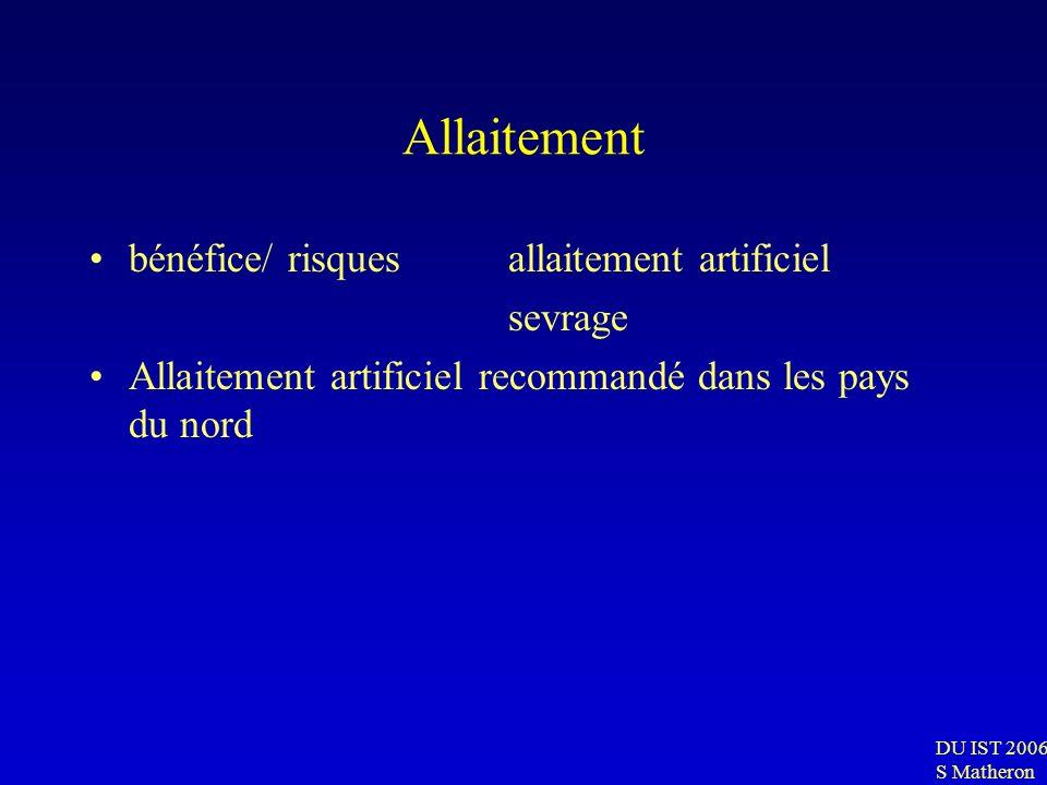 Allaitement bénéfice/ risques allaitement artificiel